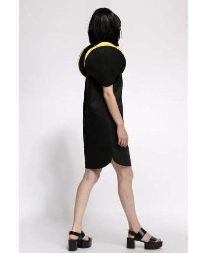 LORA BLACK AND YELLOW DRESS