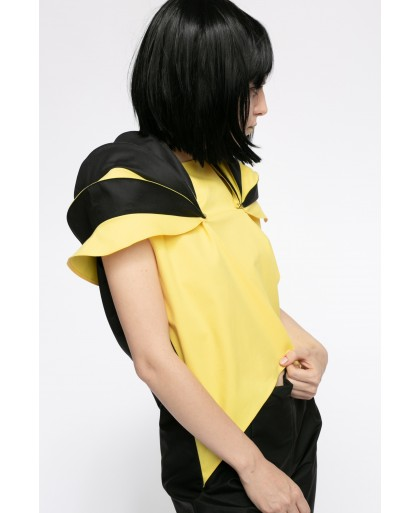 POP BLACK AND YELLOW OVERALL