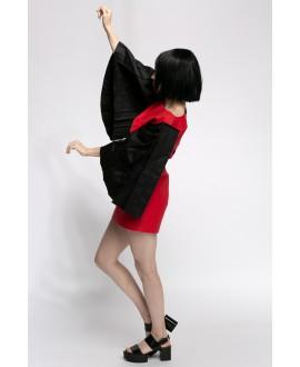 SAMIA RED AND BLACK DRESS