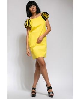 TINA YELLOW AND BLACK DRESS