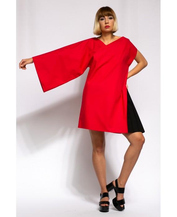 SELENA RED AND BLACK DRESS