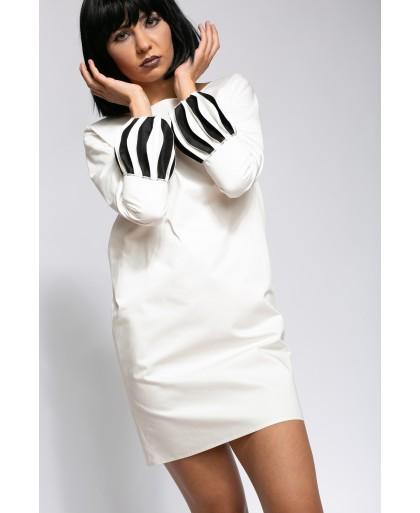 CLARA WHITE AND BLACK DRESS