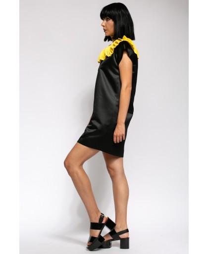 GINA BLACK AND YELLOW DRESS