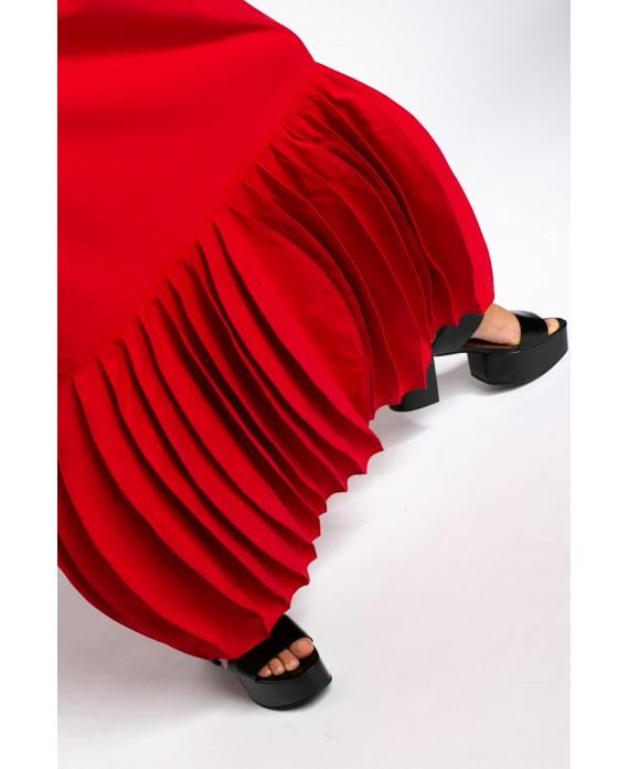 ZORA RED LONG DRESS