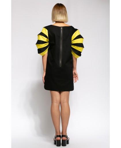 BORA BLACK AND YELLOW DRESS