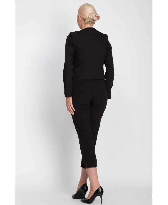 CLASSIC BLACK PANTS WITH DETACHABLE CUFFS