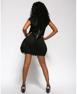 BLACK AND WHITE SARA DRESS